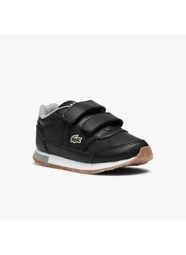 Lacoste Unisex Çocuk Partner 0721 1 Suc Sneakers 741SUI0012.231 Siyah